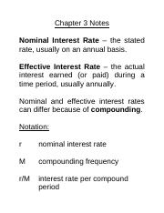 Chapter 3 - Interest Rates and Loans