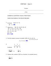 Quiz 1A (1) 2015-2 Solution.docx