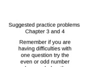 Practice problems chapter 3 & 4
