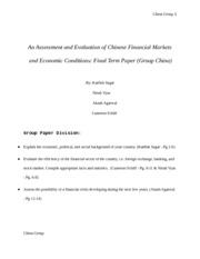 China Term paper