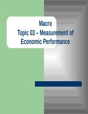 Topic 03 - Measurement