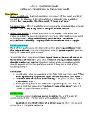 LAC II_Quotations, Paraphrasing, and Plagiarism Guide.docx