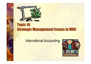 Topic10-Strategic Accounting Issue in MNC