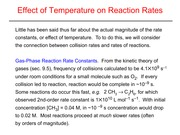 Effect of Temperature on Reaction Rates Slides and Notes