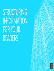 Structuring Information for Your Readers.pptx