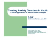 Treating Anxiety Disorders in Youth