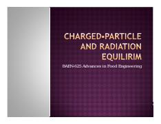 Charged-particle and radiation equilirim