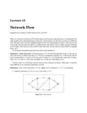 Network Flow notes