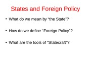 States and Foreign PolicyC4