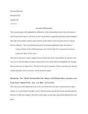 Annotated Bibliography  2