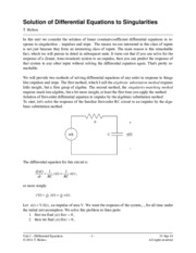 ENGR 305 Differential Equations Lecture Notes