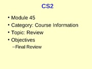 CS2_45_Review