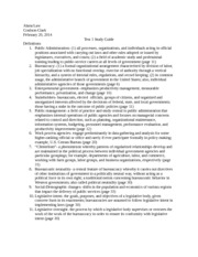 Test 1 Study Guide- Public Administration