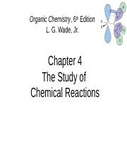 CH. 4 Chemical Reactions