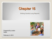 Chapter 15 Long Reports