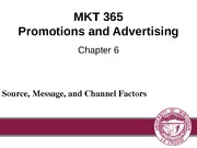 Chapter 6: Source, Message, and Channel Factors