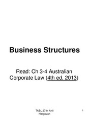 legt 2741 tutorial 2 business structur Part g - combination involving group companies or business units 250 part h 2 april 2015 were as follows (indexes used are in brackets): italy up 45% ( mediobanca mta), switzerland up 8% (smi), netherlands up 2014), which establish the structure of the financial statements and the methods.