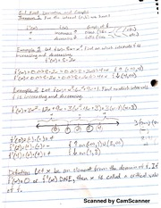 MATH 206 First Derivative And Graph Notes