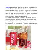 A Case Study on Coca Cola.docx