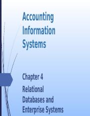 L04 Relational Databases and Enterprise Systems