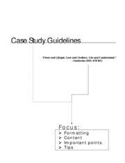 Case Guidelines