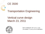 Vertical curve concepts