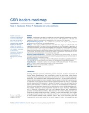 CSR leaders road - map P 2