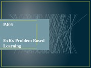 Problem Based Learning Lecture Slides