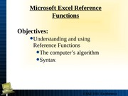 Lecture 8 Reference Functions