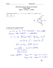 Quiz 3 (Version A) with solutions
