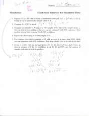 CSC 271 homework on confidence intervals
