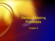 Decision Making Processes 2009 (Ch. 8)(2)