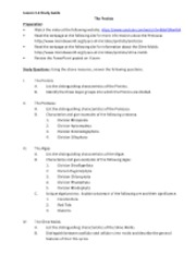 Study Guide for Lesson 1-6 The Protists