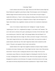 night essay irony irony of night the events of night are so 2 pages night essay 6 contrasting nights 6