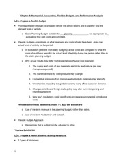 Chapter 9 Managerial Accounting Guided Notes