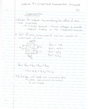 ECE 201 - Handnotes - Lecture 9 -  Linearity and Superposition Principle - F11