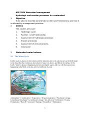 Chapter 3 Hydrologic and surface processes in a  watershed.docx