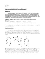 11-16-09 Gas Laws