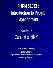 Intoductory People Management.ppt 2 latest context of HRM.ppt