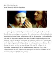 essay questions for girl with a pearl earring Suggested essay topics and project ideas for girl with a pearl earring part of a detailed lesson plan by bookragscom.