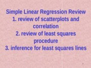 7. review simple linear regression