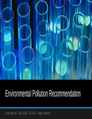 Environmental Pollution Recommendation.pptx