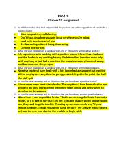 PSY-118 Chapter 12 Assignment.docx