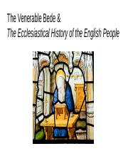 The Venerable Bede & The Ecclesiastical History of the English People.pptx