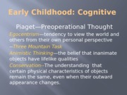 Early Childhood Cognitive posted