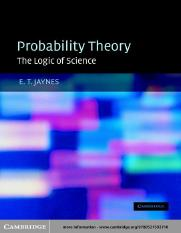 E. T. Jaynes, G. Larry Bretthorst-Probability theory - the logic of science-Cambridge University Pre