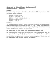 Analysis of Algorithms p5