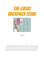 THE GREAT BACKPACK ISSUE
