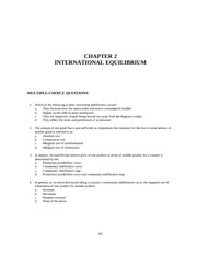 CHAPTER 2 INTERNATIONAL EQUILIBRIUM