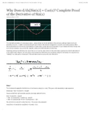 Derivative of Sin(x) Proof